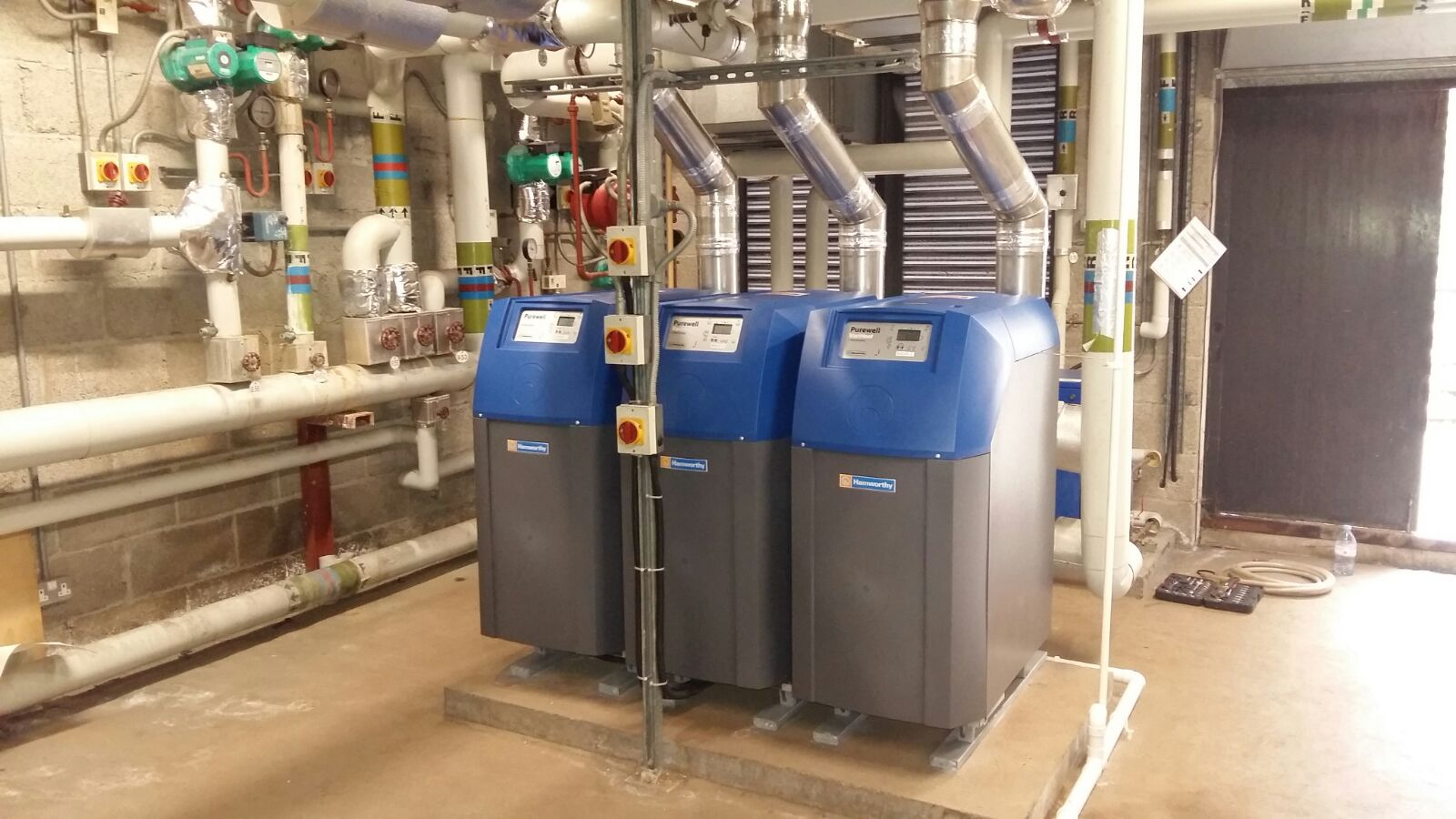 Supply and fit of three condensing boilers04